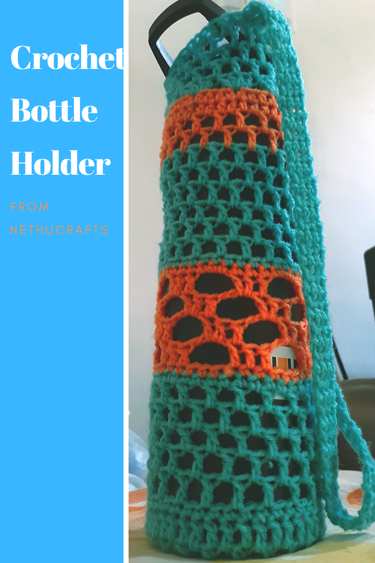 Crochet Bottle Holder from Nethu Crafts