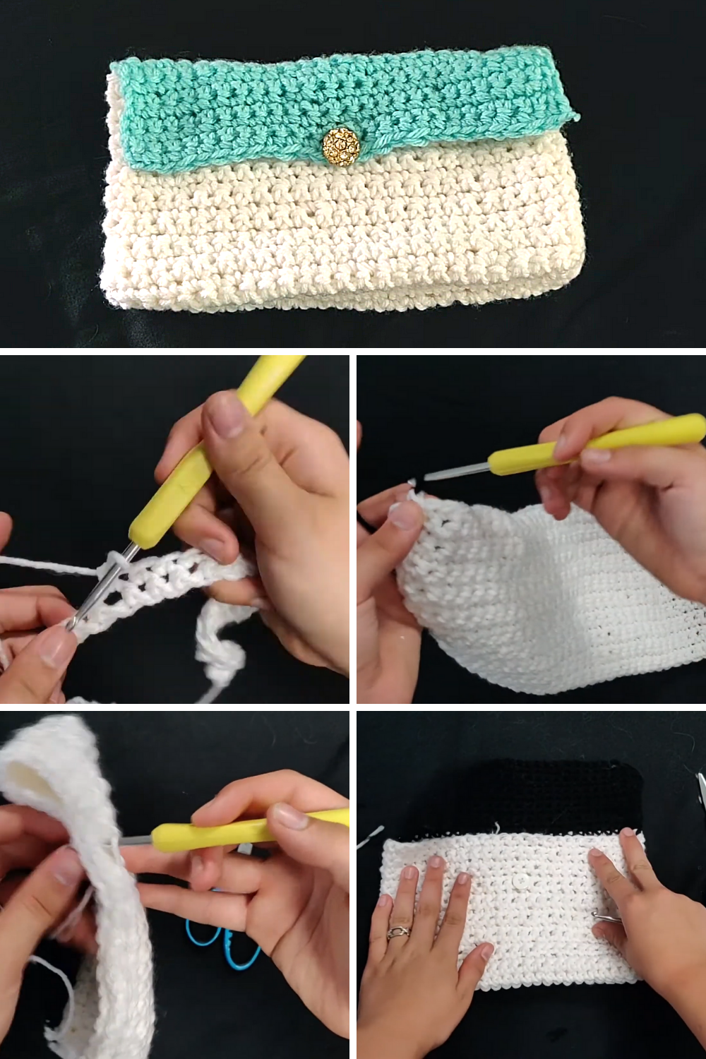 Clutch Bag Easy Crochet Tutorial Free Video Tutorial