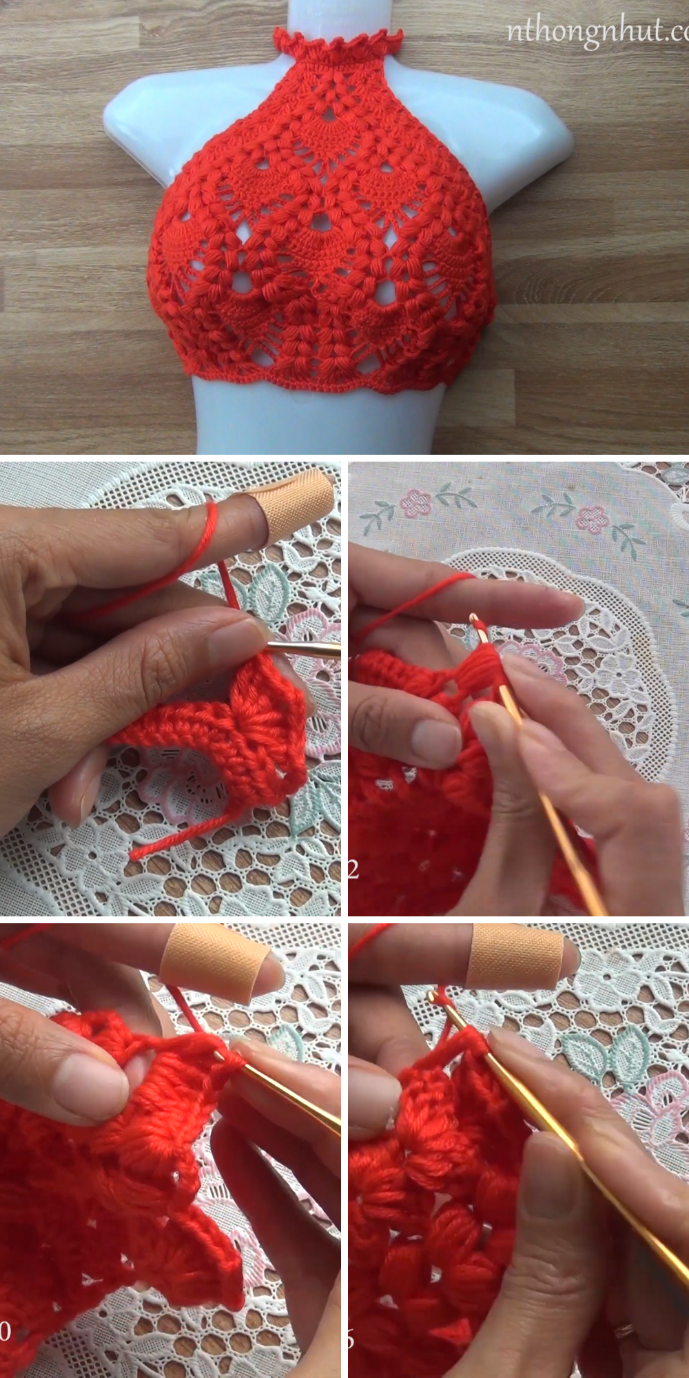 Crochet Bikini Top Crochet Crop Top Free Video Tutorial